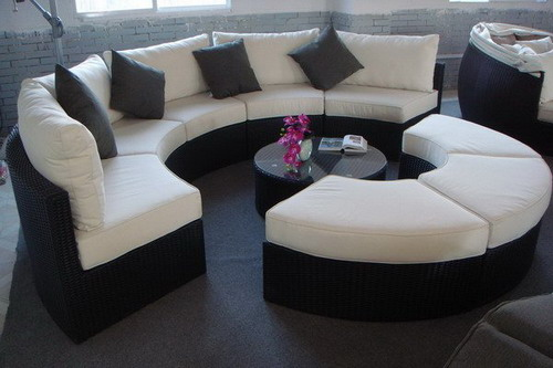 Glamorize Your Living Spaces With Adding Round Sectional Sofas Home Design