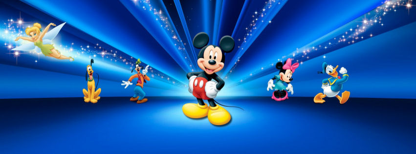 Disney mickey mouse world facebook cover