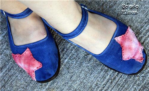 canvas drop cloth tie dye shoes
