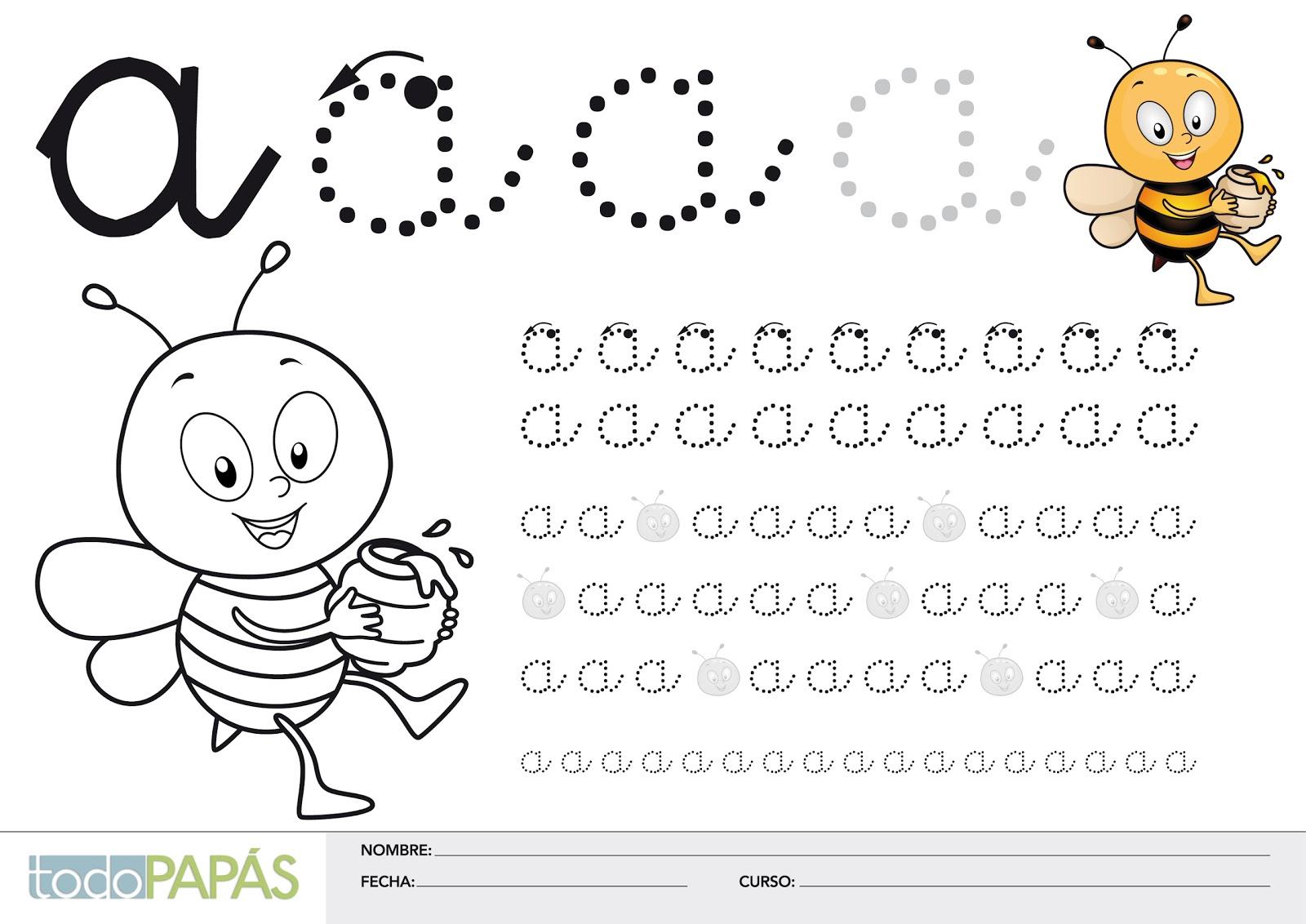 El rincón educativo : Caligrafías para niños con las vocales en ...