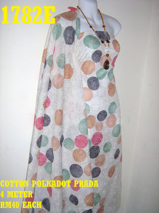 CP 1782E: COTTON POLKADOT PRADA, 4 METER