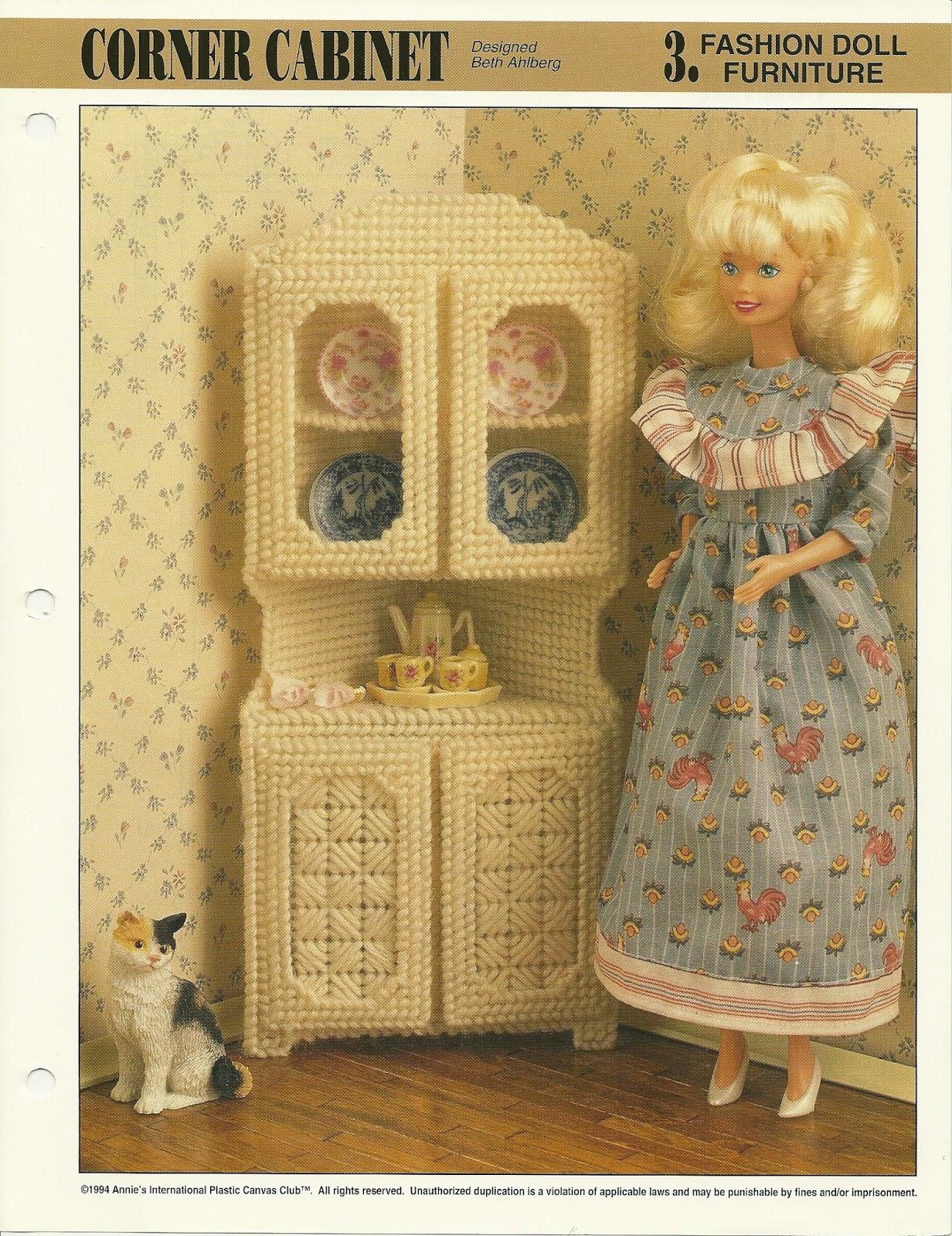 Plastic canvas fashion doll furniture patterns 48