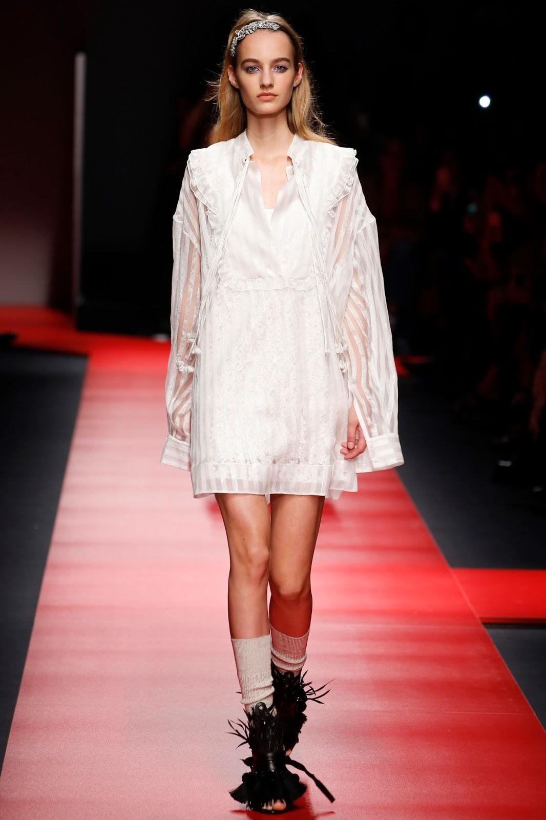 milan fashion week, catwalk, look, model, spring 201