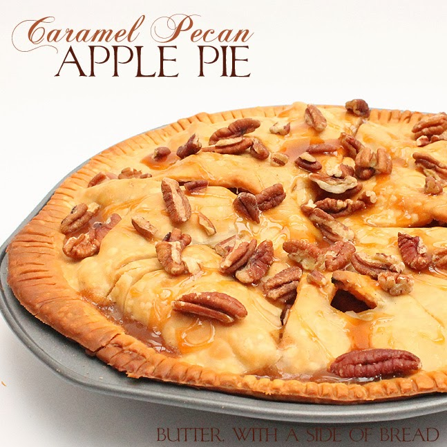 Caramel Pecan Apple Pie:Butter with a side of bread