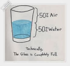 Technically the glass is always full...