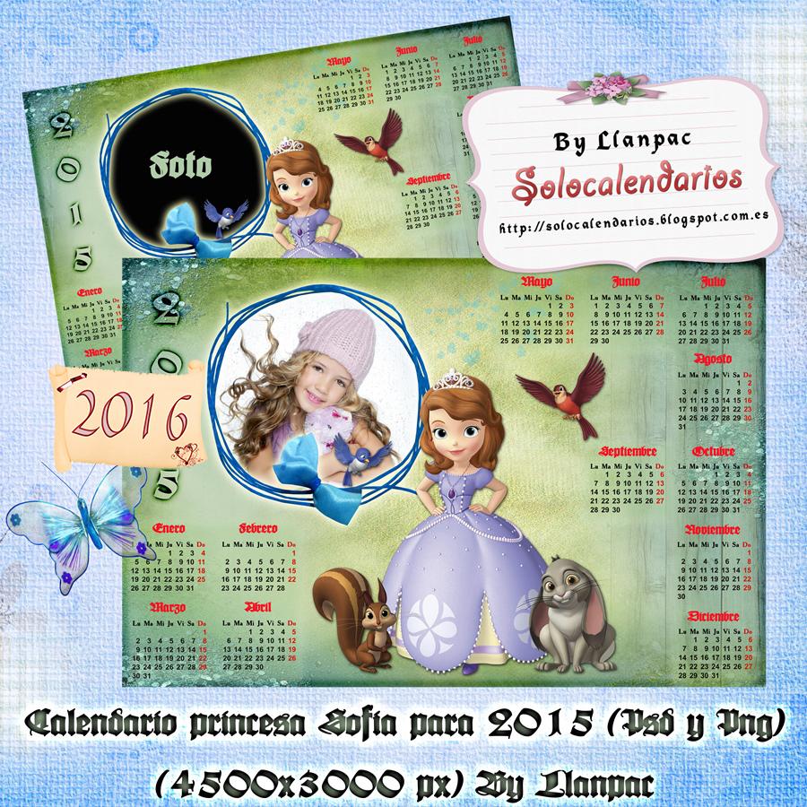 Calendarios para Photoshop: Calendario para el 2016 de la princesa ...