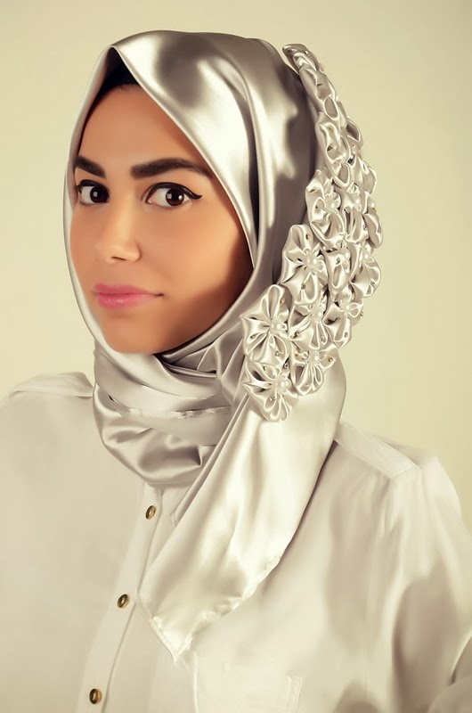 Fancy hijab fashion 2014 turkish hijab designs modern party hijab styles Hijab fashion trends style turkish