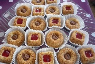 حلوى بالزنجلان سهلة ورائعة بالصور