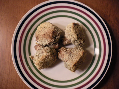 Almond flour breaded mushrooms