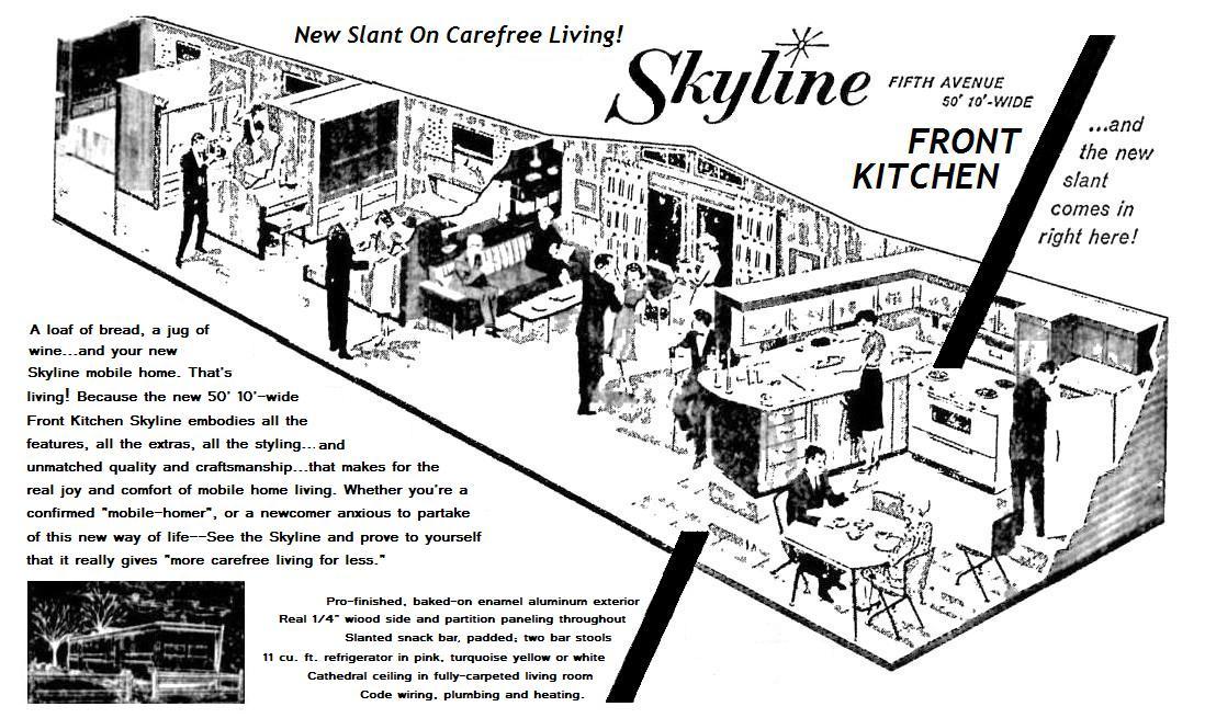 PORTABLE LEVITTOWN: 1960 Models - 1940 Kitchen Cabinets