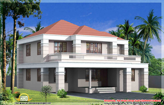 Beautiful Kerala style house elevation 2