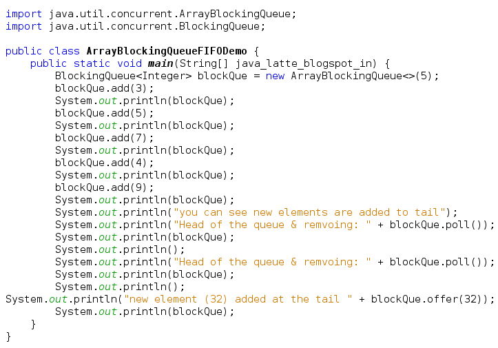 Java-Latte: ArrayBlockingQueue Examples in Java
