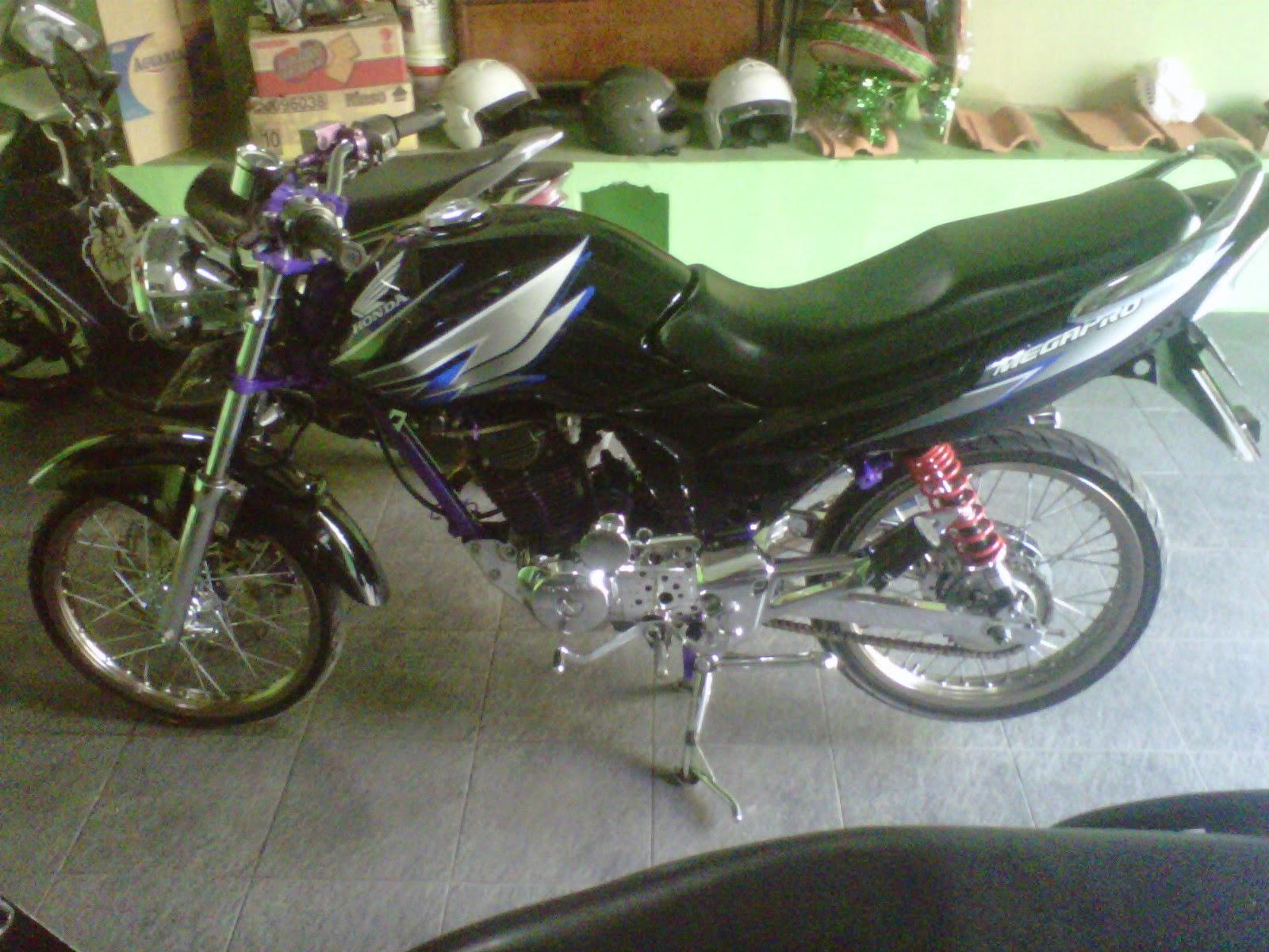 modifikasi motor honda megapro ring 17
