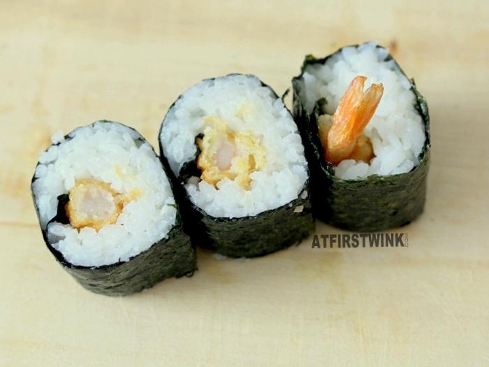 tempura shrimp sushi roll hosomaki