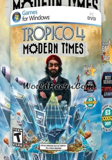 Cover Of Tropico 4 Modern Times Full Latest Version Pc Game Add On Free Download Mediafire Links At World4ufree.Org