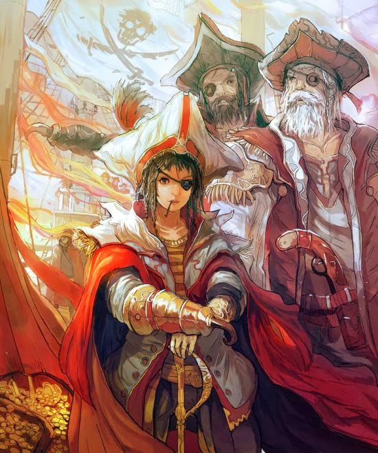 Gilang Andrian alchemaniac deviantart illustrations fantasy science fiction anime Pirate woman