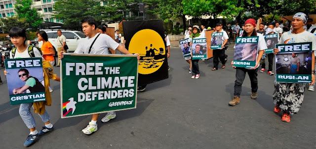 Indonesia Tuntut Pembebasan Aktivis Greenpeace