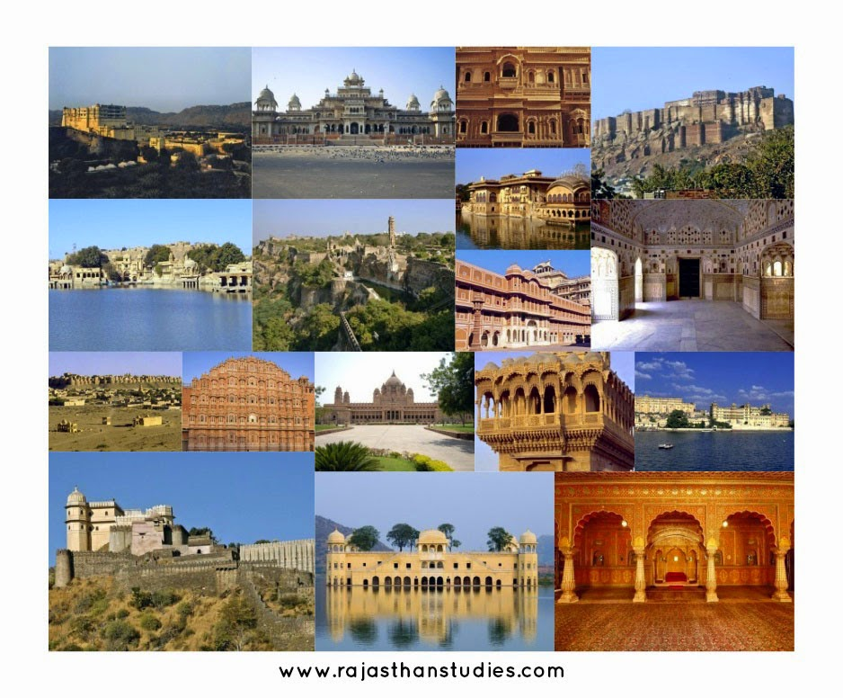 Rajasthan Historical Monuments Collage - Plan a Holiday / Tour to Rajasthan