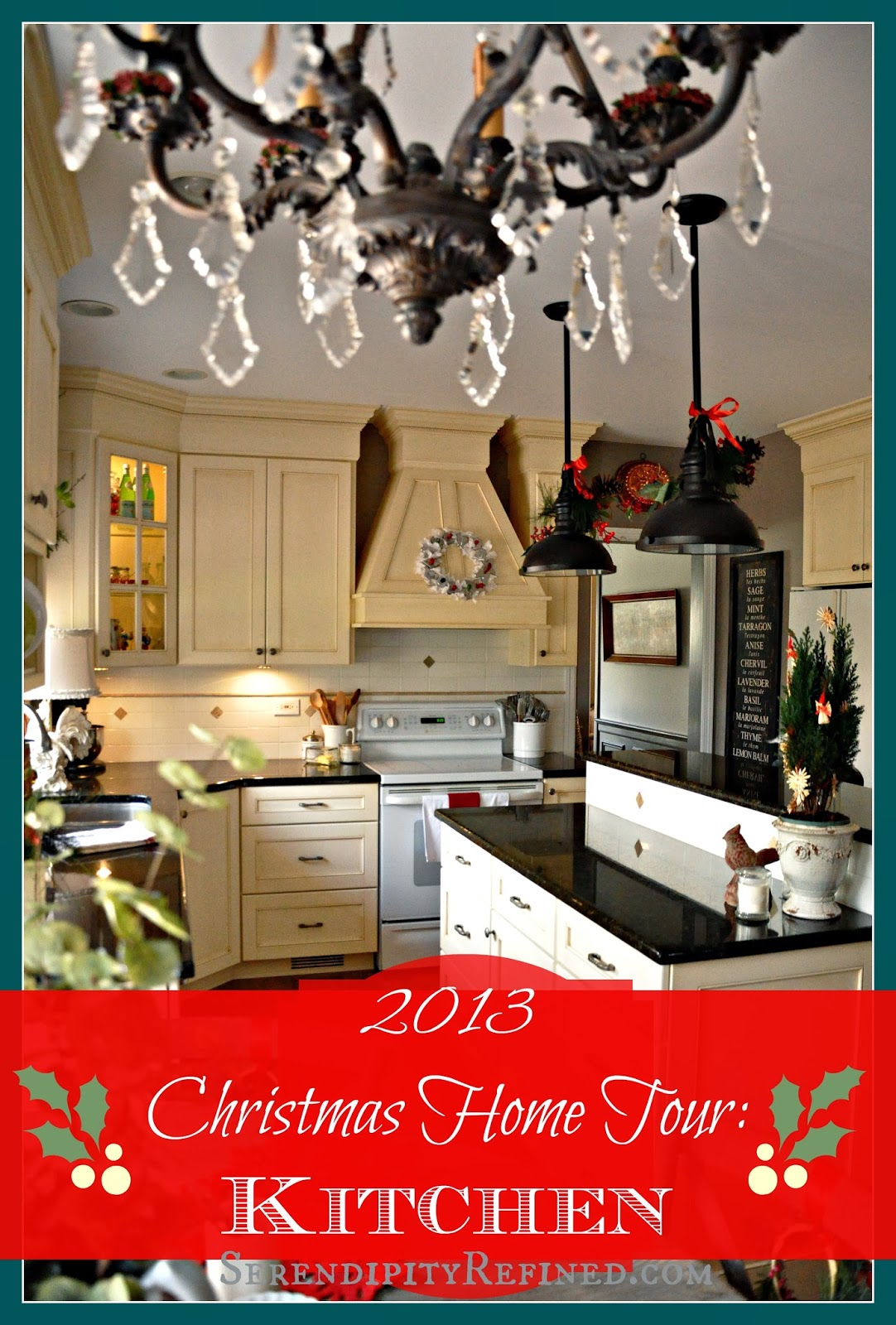 Serendipity refined blog holiday home tour day 1 french for Farmhouse christmas decorating ideas