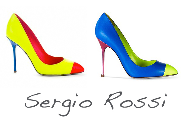 Sergio Rossi fluo shoes on www.designandfashionrecipes.com