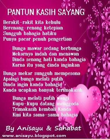 PUISI CINTA BY ANISAYU: Pantun Kasih Sayang Buat Pacar ...