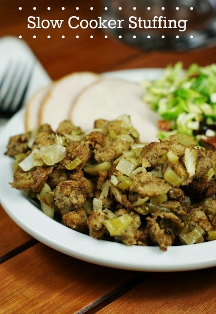 Stuffing in the slow cooker? You bet! This Slow Cooker Stuffing is ...