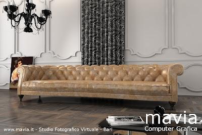 Arredamento di interni divani 3d realizzazione modelli for Divani classici in pelle e legno