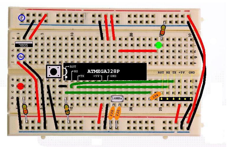 Creating a see-through Arduino with an ATmega328P