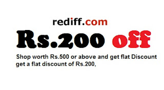 Shop worth Rs.500 or above & Get Rs.200 Off (Offer Valid till 21st July'13)
