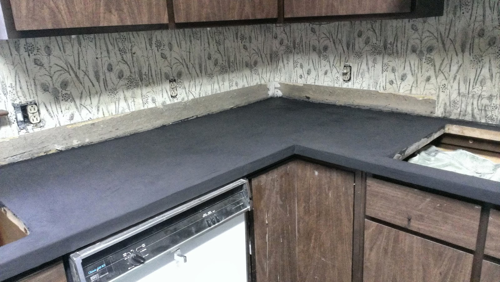Ardex Feather Finish Countertops My Diy On The Cheap Concrete Kitchen Countertop