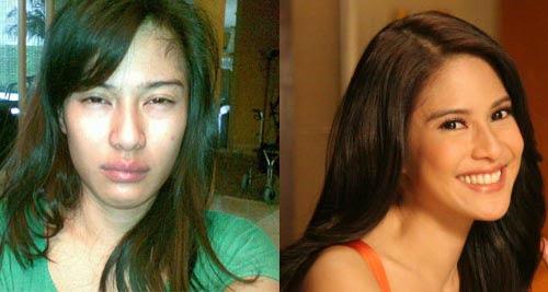 Foto Artis Tanpa Make Up dan Setelah di Make Up | liataja.com