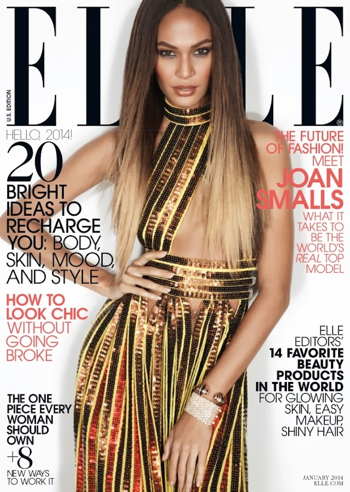 The return of the supermodel: Joan Smalls in Gucci + Givenchy for ELLE January 2014