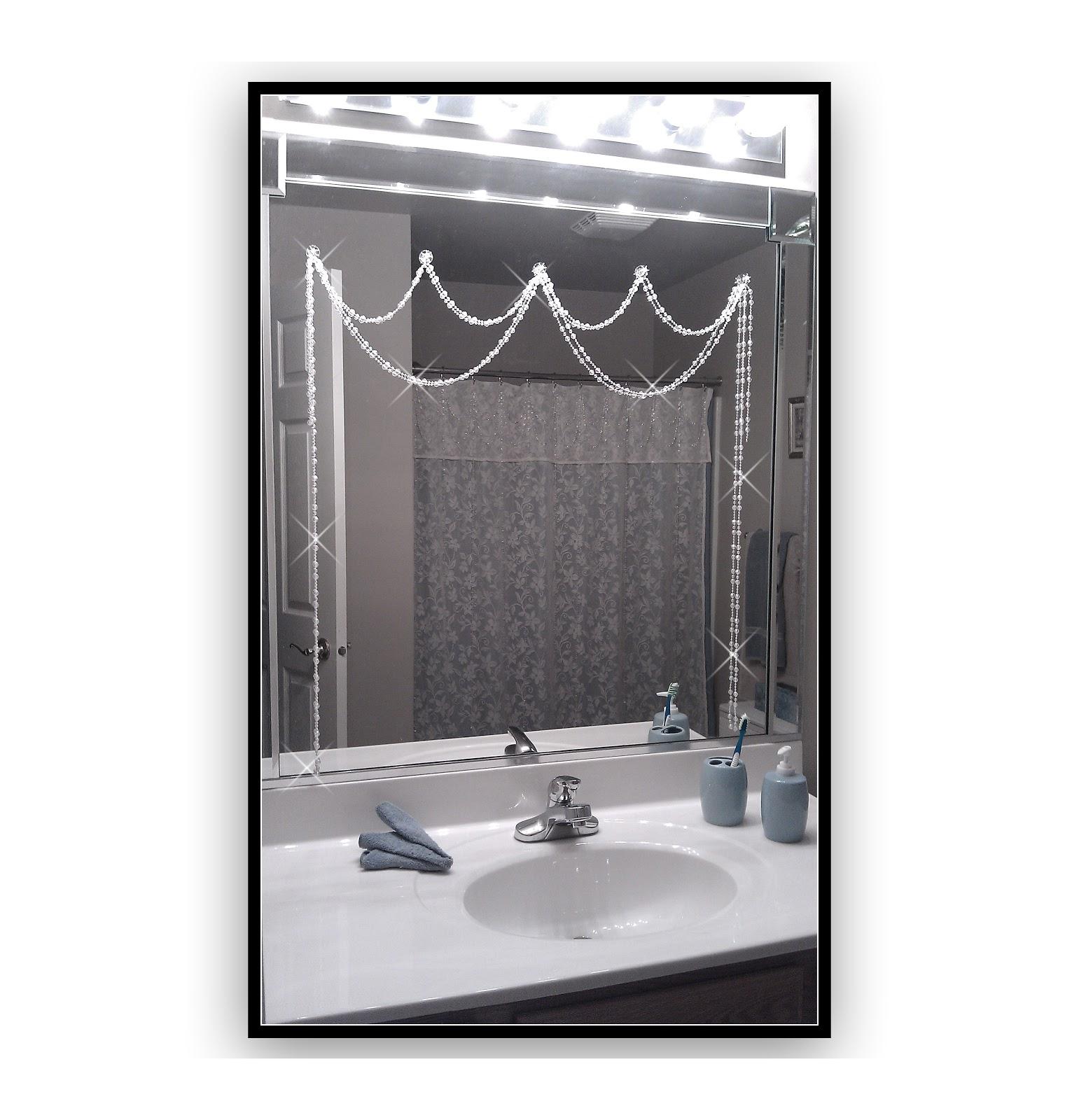 Mirror Bling Iridescent Crystal Adjustable