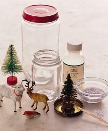 Esferas de nieve con frascos manualidades faciles para navidad paso a paso - Manualidades de navidad paso a paso ...