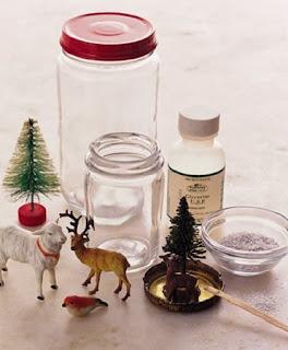 Esferas de Nieve con Frascos, Manualidades Faciles para Navidad Paso a Paso