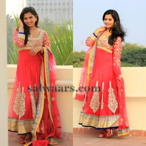 Niranjana in Party Wear Salwar