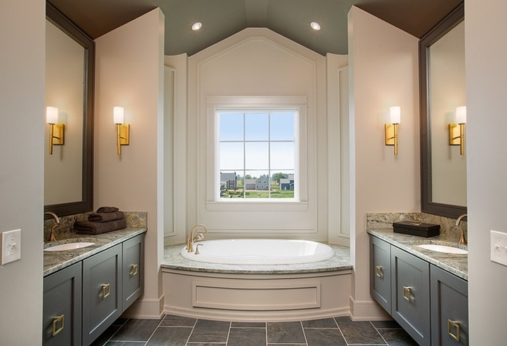 Master bathroom in Craftsman style home in Dublin, Ohio