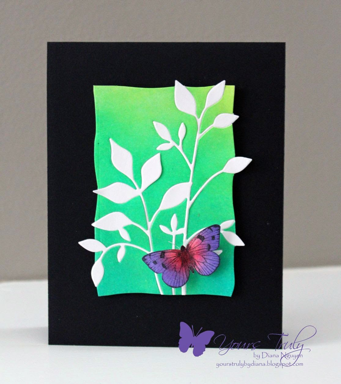 Diana Nguyen, Memory Box Fresh Foliage, Hero Arts, Ombre