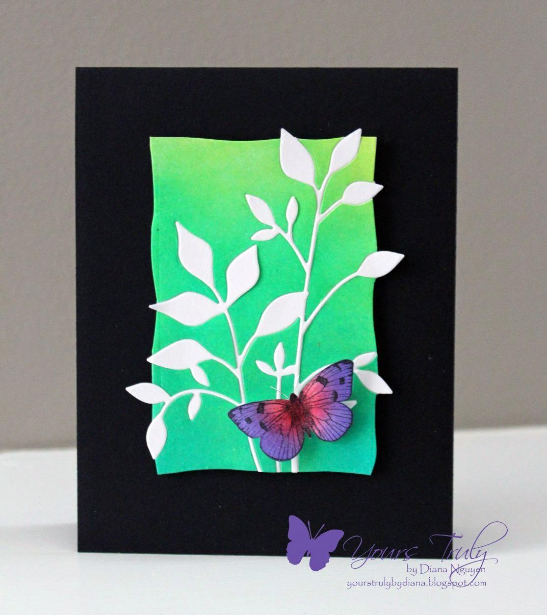 Diana Nguyen, Memory Box Fresh Foliage, Hero Arts, Ombre