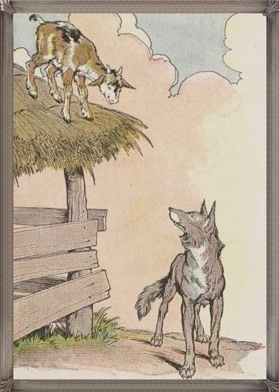 Gambar Ilustrasi Kisah Cerita Anak Kambing Dan Serigala