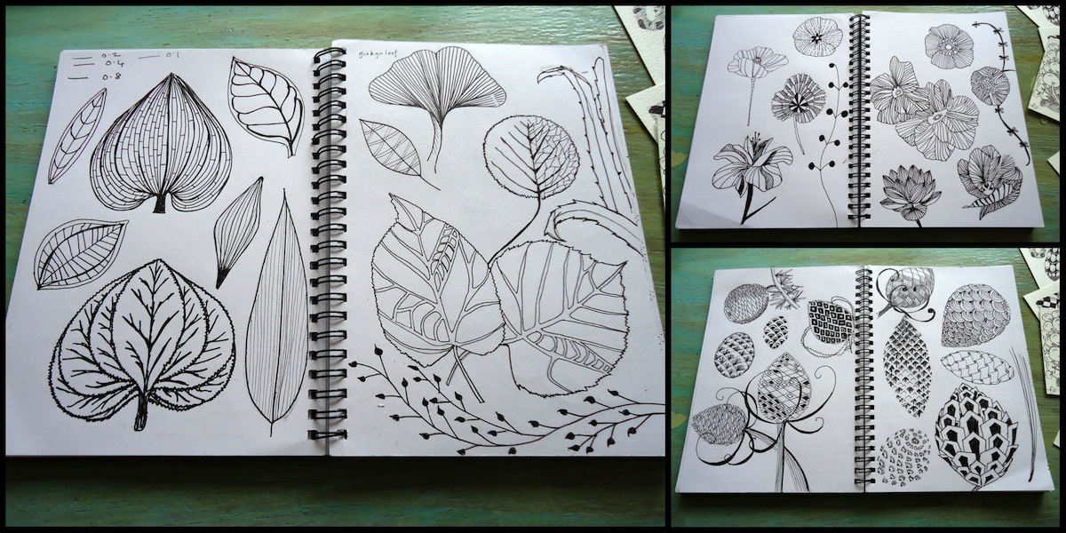 Ivy Arch's drawing sketchbook