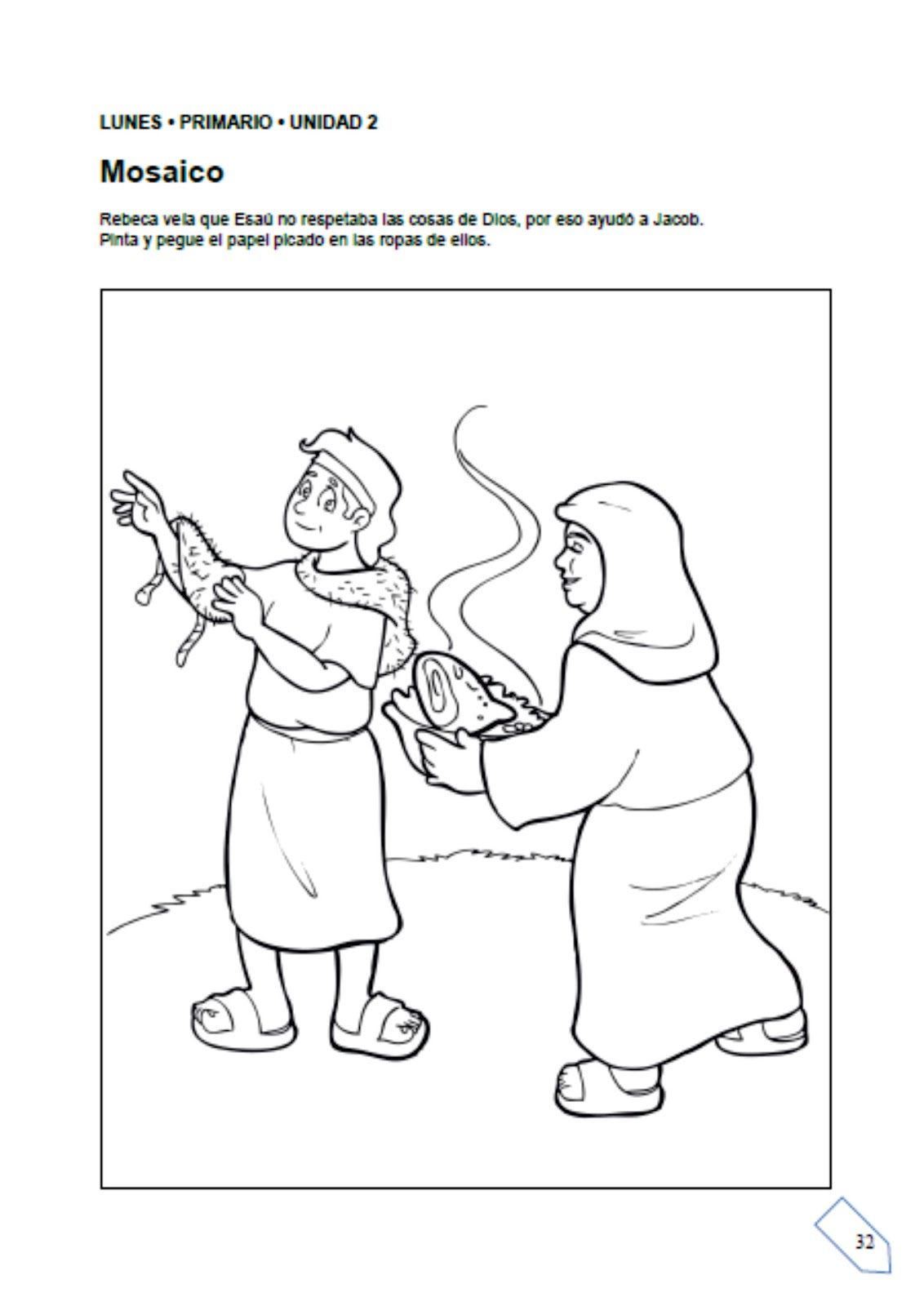 Bonito Jacob Y Esau Se Encuentran De Nuevo Para Colorear Imágenes ...