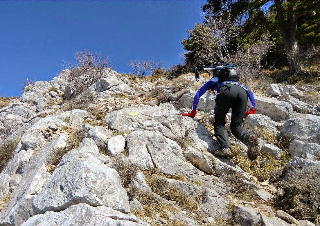 The very last push to the summit of Le Grand Mont