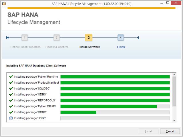 SAP HANA Client Install 3