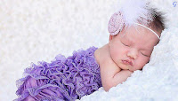 Sleeping Baby pictures with Blue Dress Photos