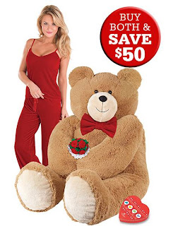 Big Hunka Love Diamond Bear is a 4½-foot-tall, cuddly Vermont Teddy Bear