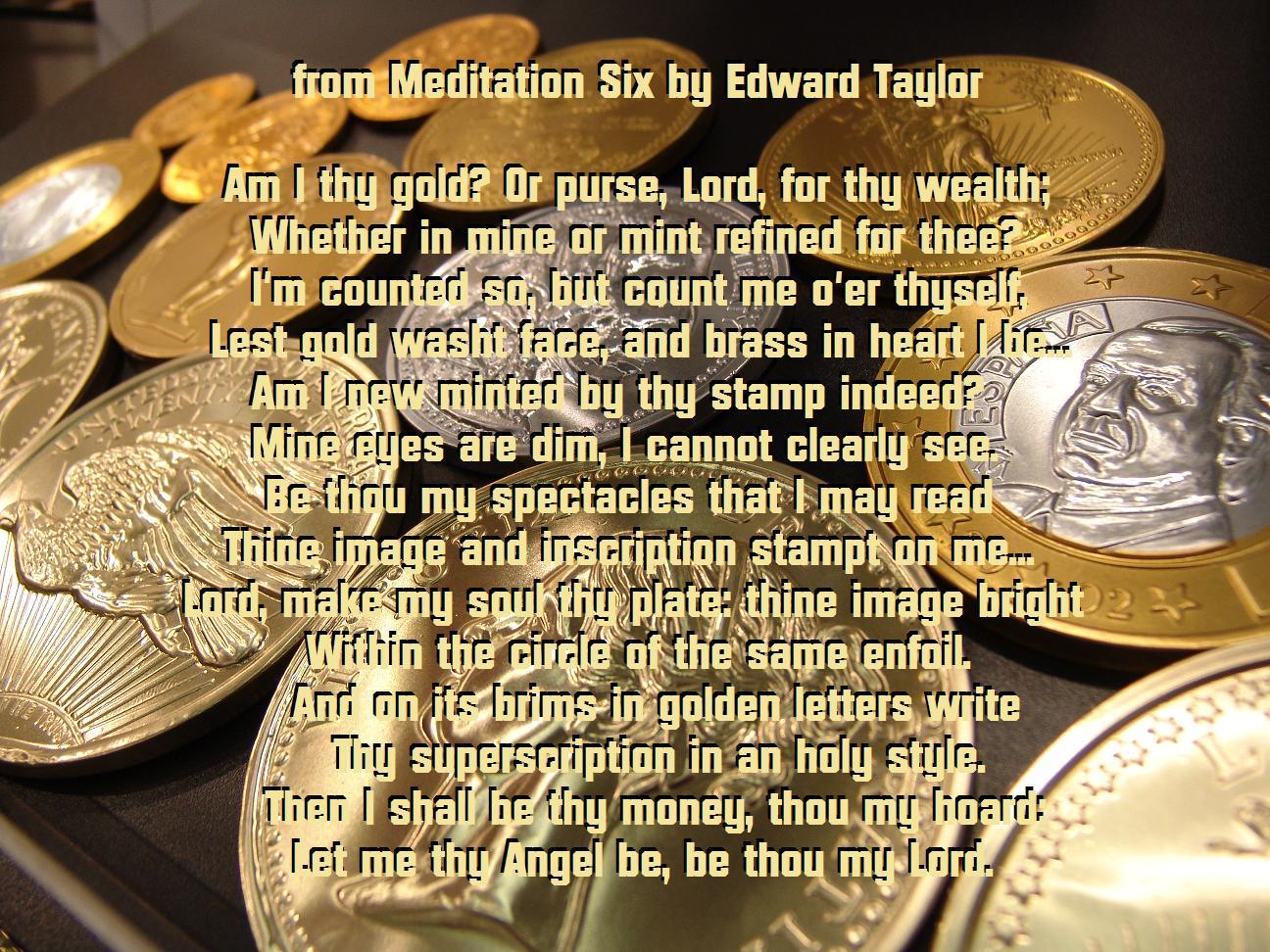 meditation 8 by edward taylor Mellotvcom.