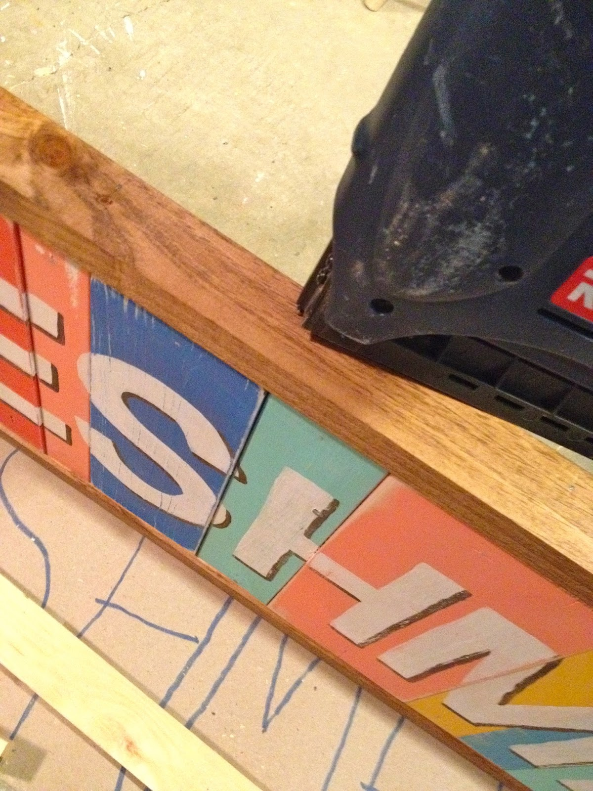 adding a frame to handpainted sign