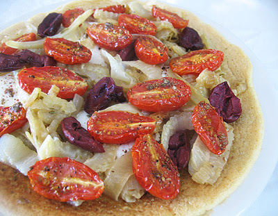 Chickpea Flour Pissaladires with Caramelized Fennel & Onions