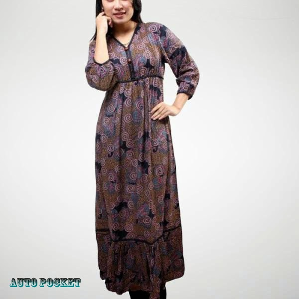 model-baju-batik-long-dress-2
